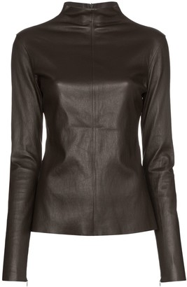 Bottega Veneta Turtleneck Leather Top