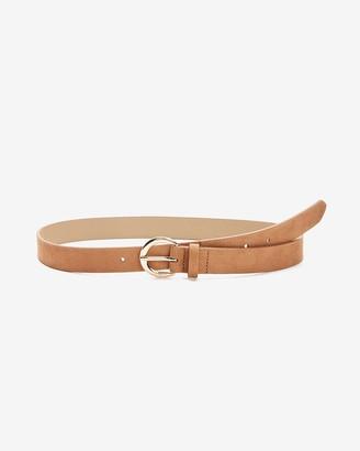 Express Circle Buckle Skinny Belt