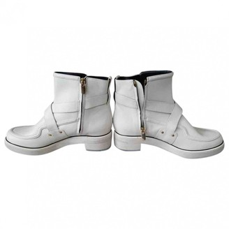 Nicholas Kirkwood White Leather Ankle boots