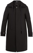 Lanvin Single-breasted Hooded Wool-twill Coat