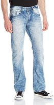 Buffalo David Bitton Men's King Slim Boot Cut Jean in Lucas Blue