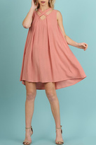 Umgee USA Sleeveless A-Line Dress