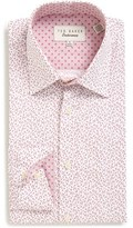 Ted Baker Men's 'Filmore' Trim Fit Print Dress Shirt