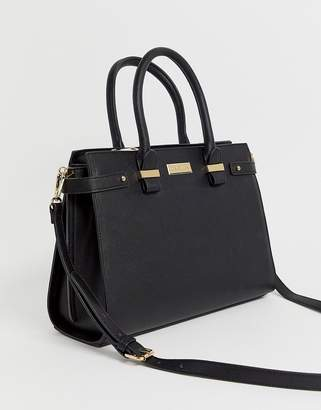 Carvela Charlotte structured tote bag-Black