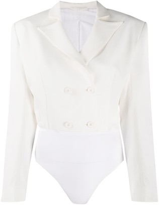 Unravel Project Double-Breasted Blouse Bodysuit