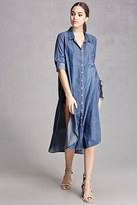 Forever 21 FOREVER 21+ Longline Chambray Tunic