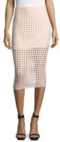 Alexander Wang Jacquard Eyelet Midi Skirt, Blush
