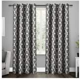 Exclusive Home Gates Sateen Woven Room Darkening Grommet Top Window Curtain Panel Pair - Exclusive Home