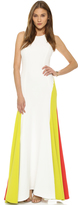 Milly Italian Cady Colorblock Gown