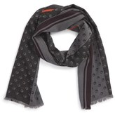Paul Smith Men's Dot & Stripe Wool Blend Scarf