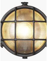 Nordlux Bulkhead Round Outdoor Light, Nickel