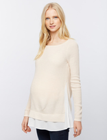 A Pea in the Pod Design History Back Interest Maternity Sweater