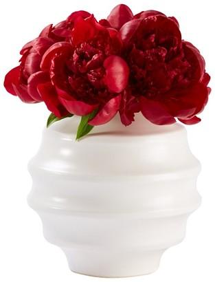 Indigo Round Bouquet Vase White