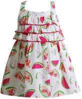 Youngland Baby Girl Watermelon Seersucker Dress
