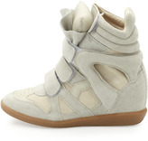 Isabel Marant Beckett Suede Wedge Sneaker, Cream