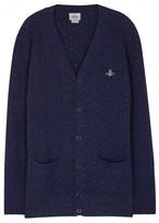 Vivienne Westwood Navy Textured-knit Wool Blend Cardigan