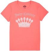 Juicy Couture Girls Logo Filagree Crown Short Sleeve Tee