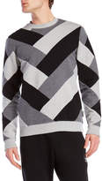 Iuter Color Block Chevron Sweatshirt