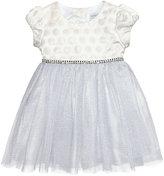 Sweet Heart Rose Jacquard and Mesh Dress, Baby Girls (0-24 months)