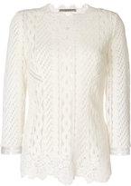 Ermanno Scervino lacy top - women - Acrylic/Polyamide/Polyester/Wool - 42