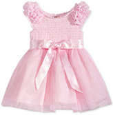 Nanette Lepore Smocked Tulle and Satin Dress, Baby Girls (0-24 months)