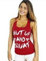 Doinshop Women Workout Tank Top T-shirt - Gym Clothes Fitness Yoga Lift Vest (S, )