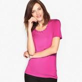 Anne Weyburn Soft T-Shirt with Braided Neckline