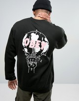 Obey Sweatshirt With World Print