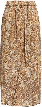 Nanushka Indira 60's Animal Print Skirt