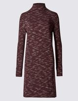 Marks and Spencer Printed Long Sleeve Shift Dress