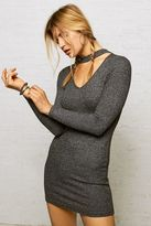 American Eagle Outfitters Don't Ask Why Choker V-Neck Dress