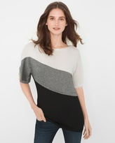 White House Black Market Colorblock Marled Pullover