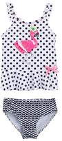 Flapdoodles Flamingo Dot 2-Piece (Little Girls)