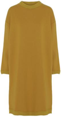Hunkøn HunKn - Susan Long Sweat Dress Ochre - cotton   ochre   L . - Ochre