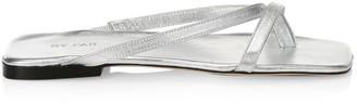 BY FAR Deni Metallic Leather Sandals