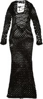Sibling crochet mesh maxi dress - women - Nylon/Polyester - S