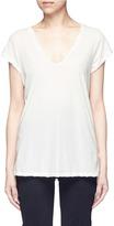 James Perse Deep V-neck slub jersey T-shirt