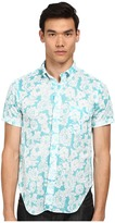 Mark McNairy New Amsterdam Short Sleeve Floral Print Button Down