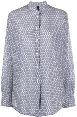 Sara Lanzi Abstract-Print Mandarin Collar Shirt