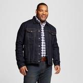 Merona Men's Big & Tall Denim Trucker Jacket Dark Wash