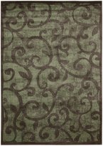Nourison Expressions XP02 Brown Rectangle Rug, 5.3'x7.5'