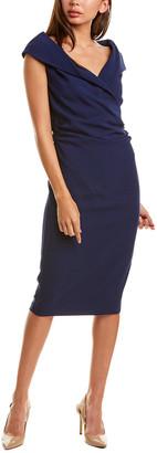 Donna Karan Draped Midi Dress