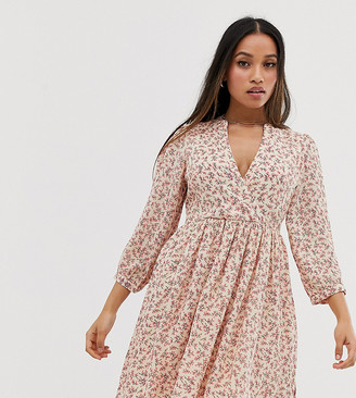 Y.A.S v neck floral skater mini dress