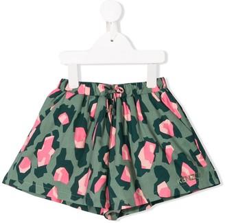 Kenzo Kids Leopard Print Shorts