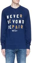 Denham Jeans 'BEYOND REPAIR' velvet flock print sweatshirt