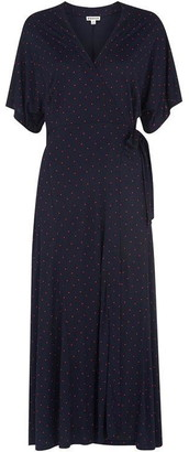 Whistles Spot Wrap Jersey Dress