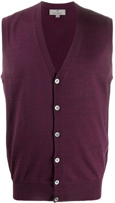 Canali sleeveless V-neck cardigan