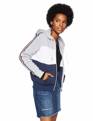 Southpole Junior's Full Zip Basic Hoodie with Stripe Tape