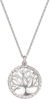 Sterling Silver Open Tree Pendant Necklace