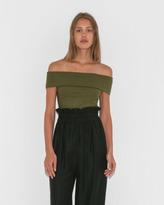 Mara Hoffman Lorraine Off Shoulder Bodysuit